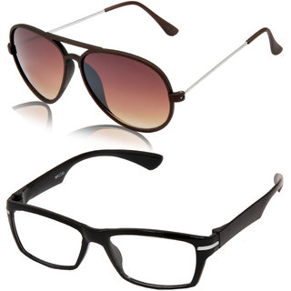 Aoito Stylish Brown Aviator Sunglasses & Aoito Smart Eyeglasses.