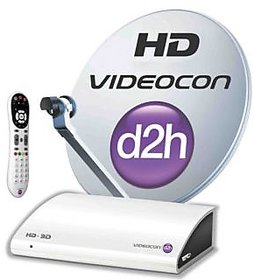 Videocon D2H (SD) connection with one month free(south silver)