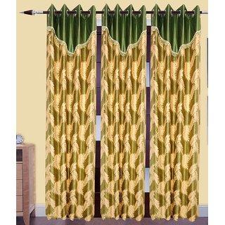 shiv Shankar Handloom Set of 3 Door Curtains(7X4 Feet)