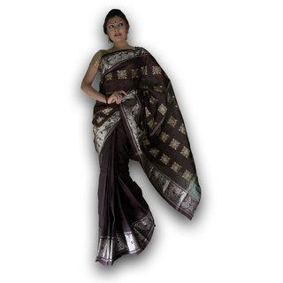 Bengal Handloom saree( Tant)- Code SC7 (Brown)
