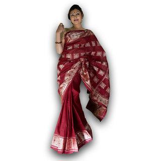 Bengal Handloom saree( Tant)- Code SC8 (Red)