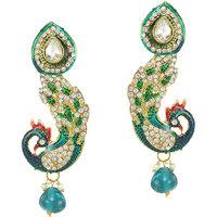 The pari Earring Beautifull Green  Silver Combination