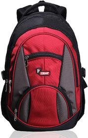 F Gear Midus Black Red Backpack Bag