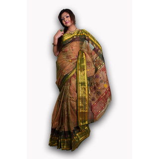 Bengal Handloom saree( Tant)- Code SC9 (Brown)
