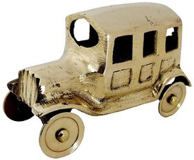 Brass Antique Showpiece Car TUK TUK  HALF PIZZA ART