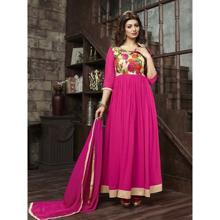 Trendz Apparels Pink 60 gm Georgette Anarkali Suit Salwar Suit