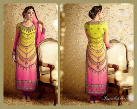 NILKANTH CLOTH STORE  PINK GREEN Bamberg , Georgette SUIT