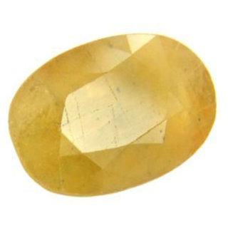 Natural Yellow Sapphire Gemstone Pukhraj Ratan Lab certified