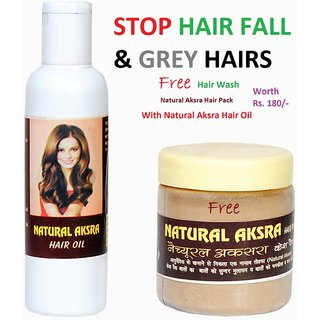 Stop Hairfall  Grey Hairs - Natural Aksra Hair Oil