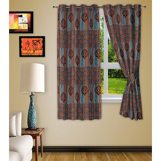 Story@Homebro Wn Polyster Window Curtain Nature 2 Pc Window Curtain Wnr2056