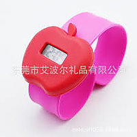 Led Contemporary Dial Multi Plastic Strap Quartz Watch