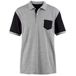 Knit Collar t-Shirt Free Size