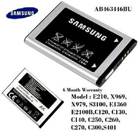 Samsung AB463446BU AK 800 MH Battery ( E900 I320 X530 X680 E250 E2100 E1081) 100 Original
