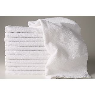 Akash Ganga White Face Towel (Set of 6)