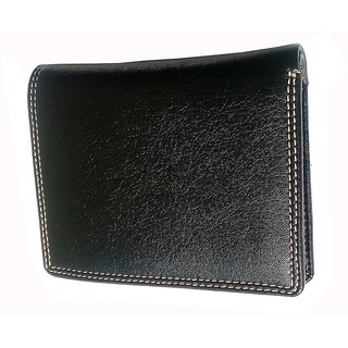 Ws Deal Mens Standing Black Synthetic Leatherite Wallets (Bl733)