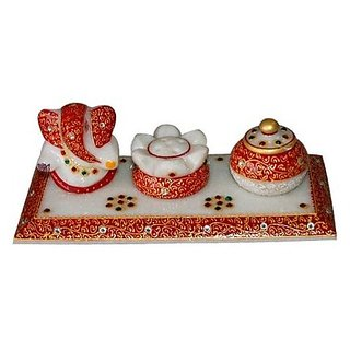 jaipurikala  Ganesh With Clock  Combo Set
