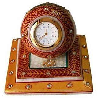 jaipurikala Marble Table Clock
