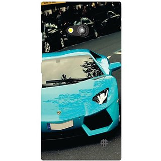 Nokia Lumia 730 Blue Car