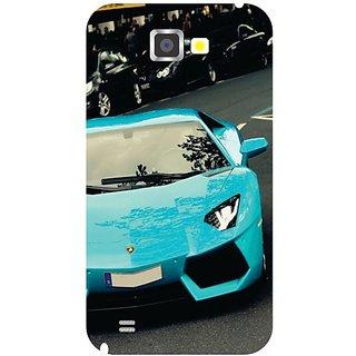 Samsung Galaxy Note 2 Blue Car