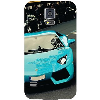 Samsung Galaxy S5 Blue Car