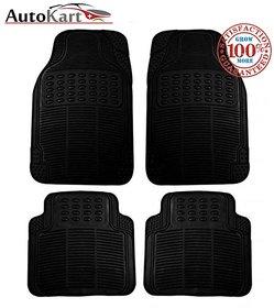 AutoSun Universal Car rubber floor mat - Black