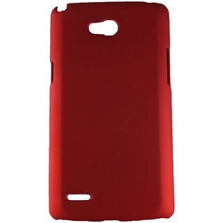 Fcs Rubberised Hard Back Case For Lg Optimus L80 In Matte Finish-Red FCSHB-LG-D380-RD