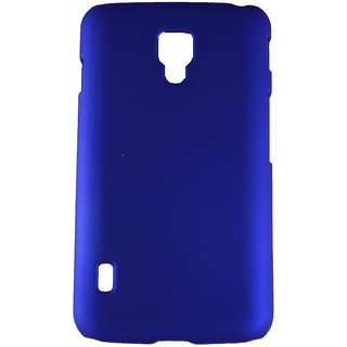 Fcs Rubberised Hard Back Case For Lg Optimus L7 Ii In Matte Finish-Blue FCSHB-LG-P715-BL