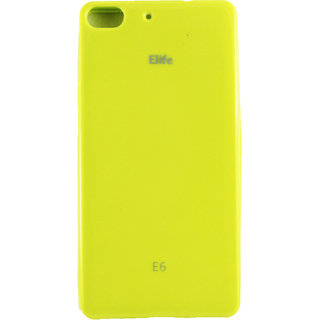 Fcs Silicon Back Case Cover For Gionee Elife E6 In Glossy Finish.-Yellow FCSSSGIONEE-E6-YL