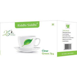 Clear Green Tea,25 Enveloped Tea Bags (Set of 2)