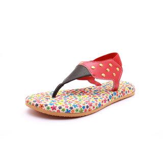 Flat Red Fashion Girls Sandal