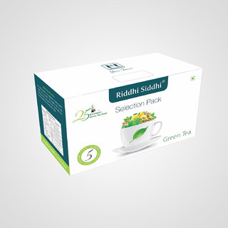 Green Tea Bags in Selection Pack, 25 Enveloped Tea Bags (Pack of 2)