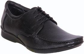 Austrich Black Lather Formal Shoes