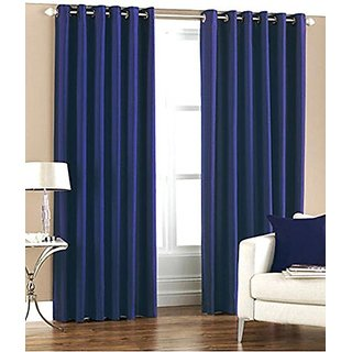 GEO NATURE EYELET BLUE BAMBOO CURTAIN SET OF 2 (TWIN048)