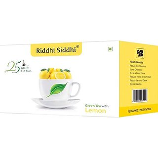 Lemon Green Tea,25 Enveloped Tea Bags (Set of 2)
