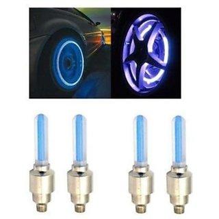 AutoSun-Car Tyre LED Light with Motion Sensor - Blue Color ( Set of 4) Mahindra Quanto
