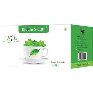 Tulsi Green Tea,25 Enveloped Tea Bags (Set of 2)