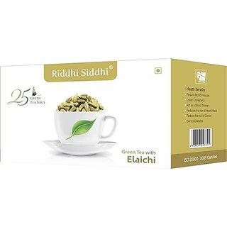 Elaichi Green Tea,25 Enveloped Tea Bags (Set of 2)