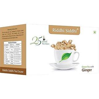 Ginger Green Tea,25 Enveloped Tea Bags (Set of 2)