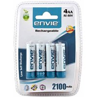 Envie 2100Mah Aa Rechargeable Ni-Mh Battery (Pack Of 4)