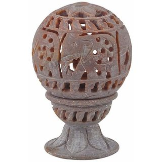 Pooja Creation Jaipur Handmade Portable & Unique Marble Home Decor - Lamp