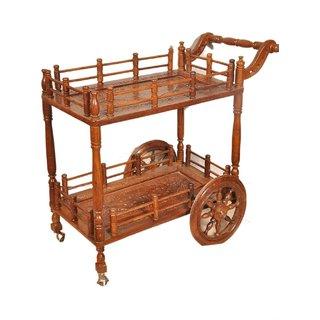 shilpi handi crafts Wooden Service Trolley