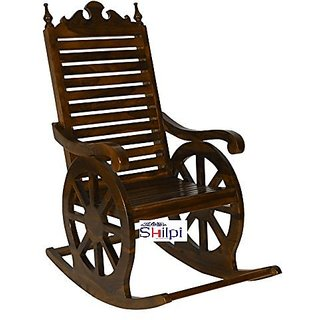 buy shilpi hand carved rocking chair wooden rocking chair grandpaa