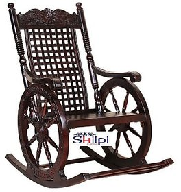 Shilpi Hand Carved Rocking Chair/wooden rocking chair/grandpaa chair/ relax