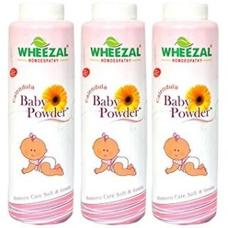 Wheezal Calendula Baby Powder - 100g- Pack of 3