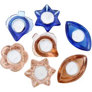 Glass T Light Holder - Pack of 1 Pc.