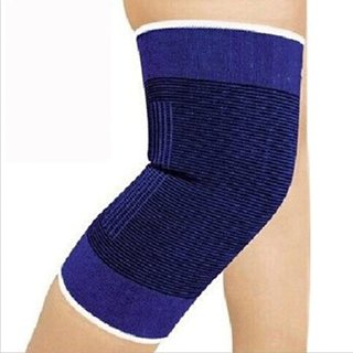 (Kiongying) 2 Knee Nylon Blue Elastic Brace Muscle Support