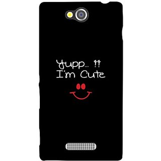 Sony Xperia C I am Cute