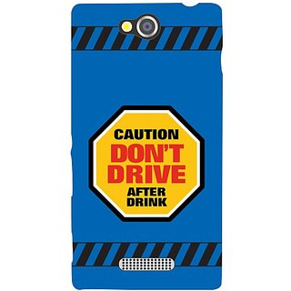 Sony Xperia C Dont Drive After Drink