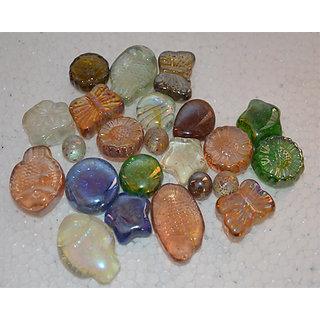 Aquarium Fish Tank Glass Marbles Animal Shape Gravel