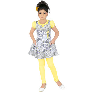 Kc Dolphin Floral Frock With Leggings Set
